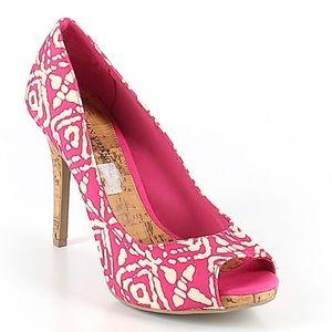 Christian Siriano Peep Toe Heels Size 6 NWOB